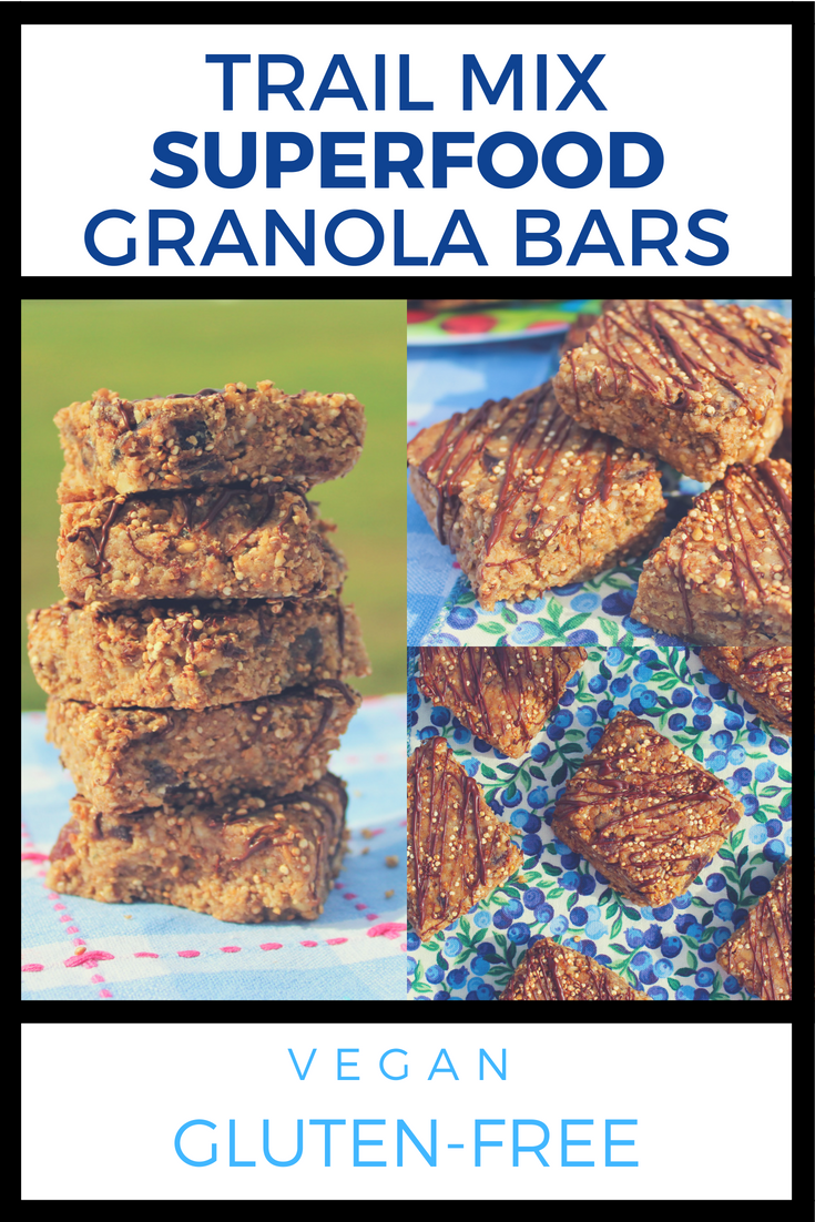Trail Mix Superfood Granola Bars
