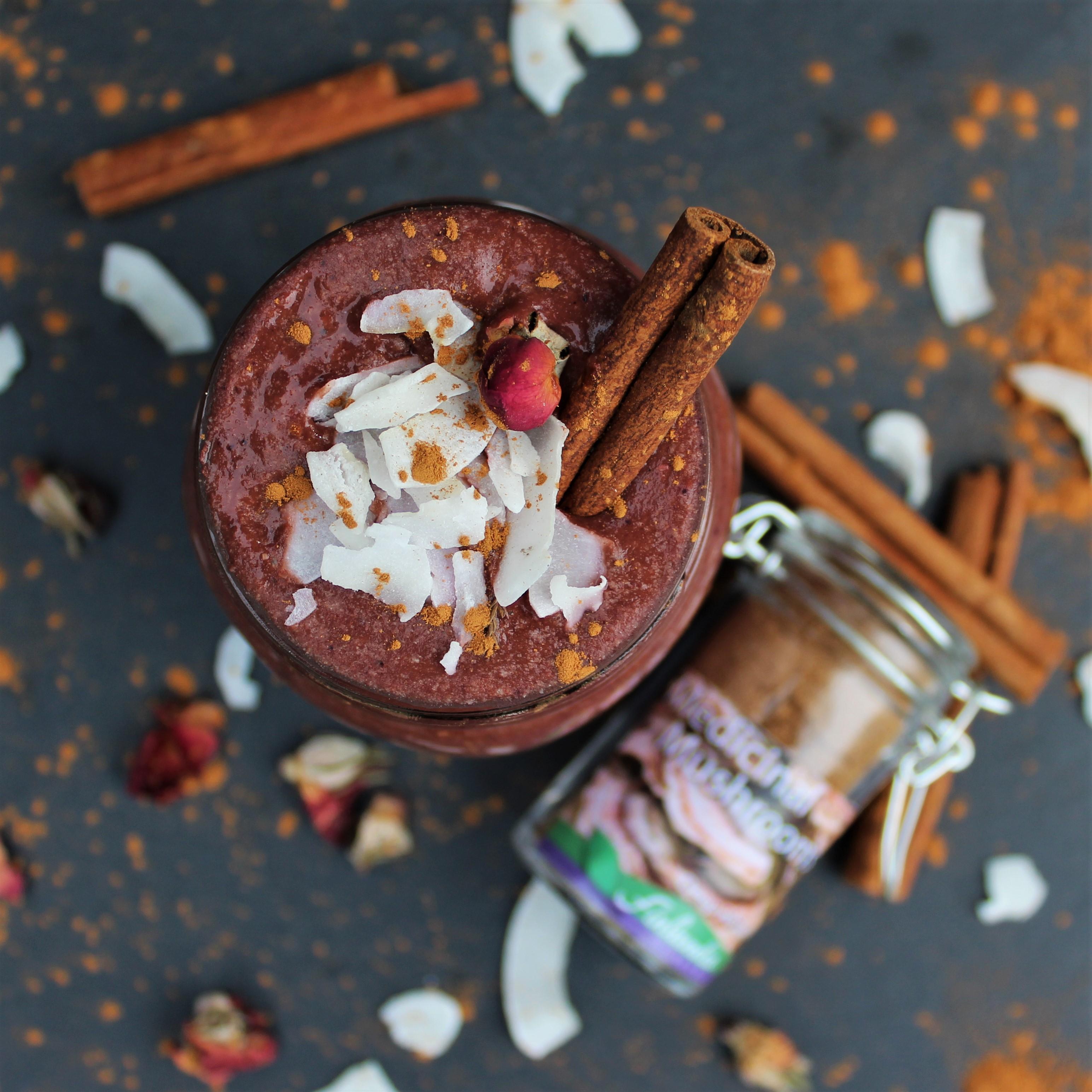 Adaptogenic Antioxidant Smoothie with Medicinal Mushrooms